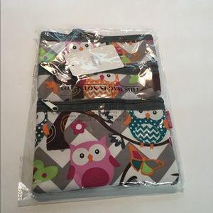 Gray Owl Party Crossbody Bag